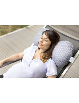 Babymoov Mom & b – Ergonomic Maternity Pillow and Positioner for Ultimate Comfort and Support (Dotwork)