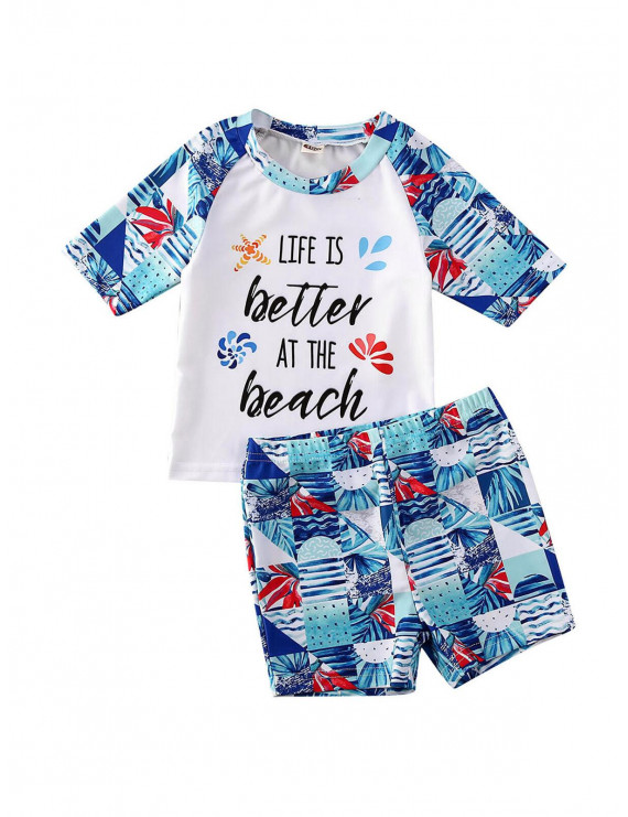 Toddler Baby Kids Boys Girls Swimsuit Swimwear Bikini Shorts Bathing Suit