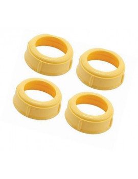 4 Pack - Medela Bottle Nipple Collars Rings New! For Slow or Medium Flow Wide Base (4 Collars)