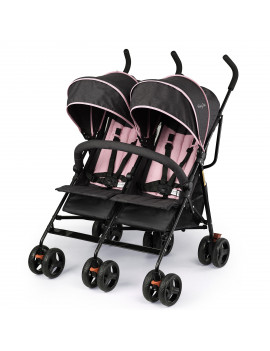 Dream On Me Volgo Twin Umbrella Stroller, Pink
