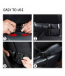 Car Backseat Organizer Protector Car Organizer Kick Mat with Touch Screen Tablet Holder & 6 Storage Pockets & Strong Buckles for Kids and Toddlers