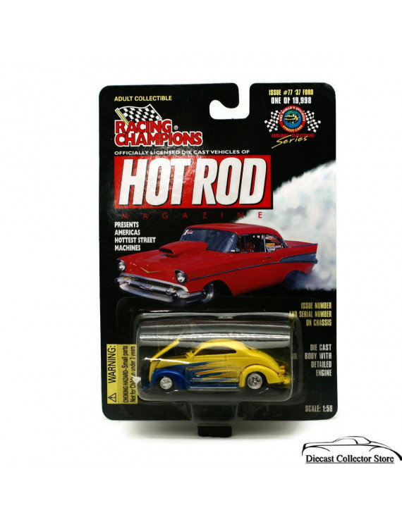 1937 Ford Custom 77 RACING CHAMPIONS HOT ROD MAGAZINE Diecast 1:58 FREE SHIPPING