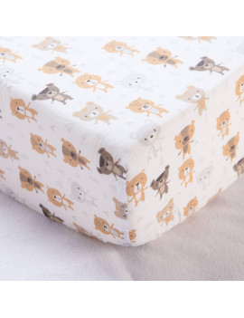 100% Cotton Muslin Crib Fitted Sheet - Bears