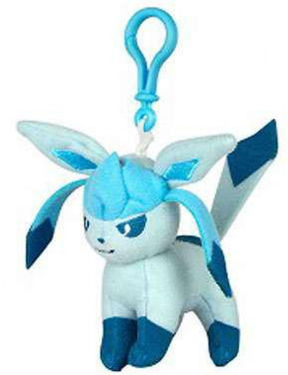 Pokemon Glaceon Plush Clip On