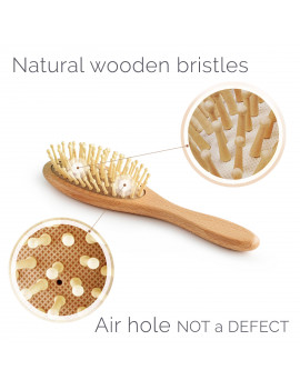3-Piece Wooden Baby Hair Brush and Comb Set By Natemia