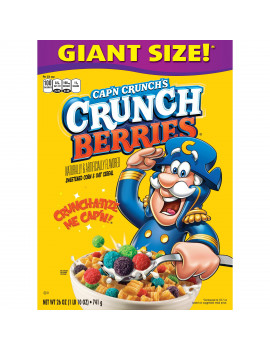 Cap'n Crunch Breakfast Cereal, Crunch Berries, 26 oz Box