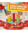 Play-Doh Kitchen Creations Ultimate Swirl Ice Cream Maker Set, 8 Cans