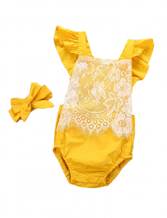 Toddler Baby Girl's Romper Bodysuit Jumpsuit Summer Lace Outfit Clothes