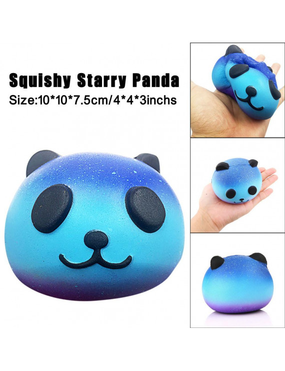 iLH Mallroom Starry Cute 10cm Panda Baby Cream Scented Squish Slow Rising Squeeze Kids Toy