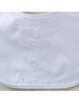 Personalized Boy's Christening Bib