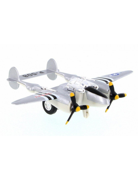 P-508 WWII Pullback Fighter, Gray - Showcasts 508D - Diecast Model Toy Car (Brand New but NO BOX)