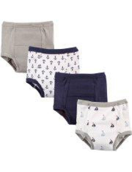 Luvable Friends Baby Boy and Girl Training Pants, 4-Pack - 4T - Anchors