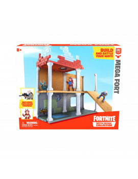 Fortnite Mega Fort Playset, with Exclusive Figures: Blue Squire & Tricera Ops