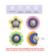 tumama Baby Rattles 4 PCS Rattles of Sun Earth Moon Star Theme Food-grade Safe Silicone Teether and Teething Toys for Infants Toddlers