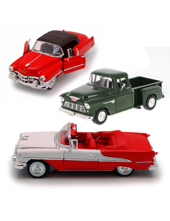 Best of 1950s Diecast Cars - Set 17 - Set of Three 1/24 Scale Diecast Model Cars
