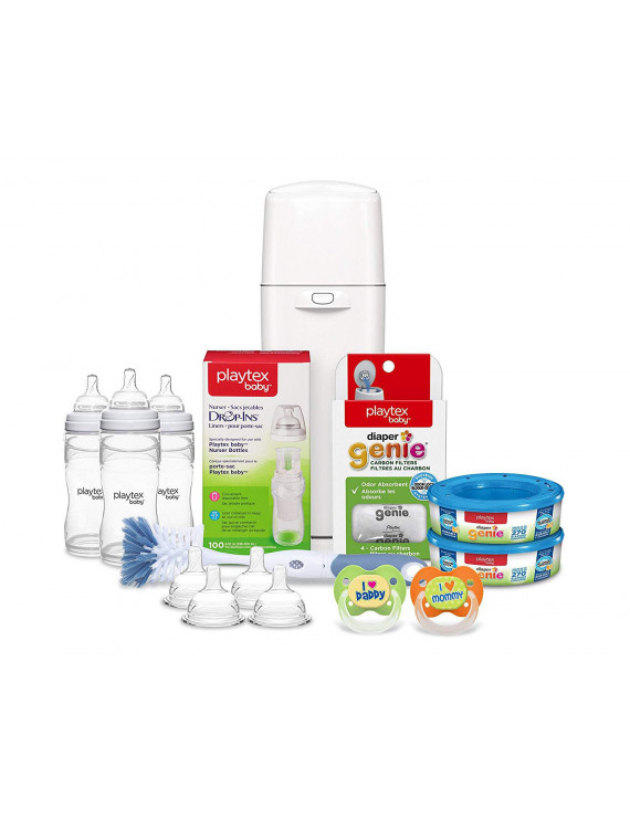 Playtex Baby Gift Set with Diaper Genie Complete Refills and Nurser Bottles