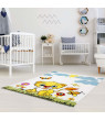 Ladole Rugs Adorable Cute Durable Soft Modern Moda Collection Kids Area Rug Carpet with Lion White, 4x6