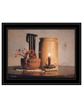 """Bittersweet Basket"" by Susie Boyer, Ready to Hang Framed Print, Black Frame"