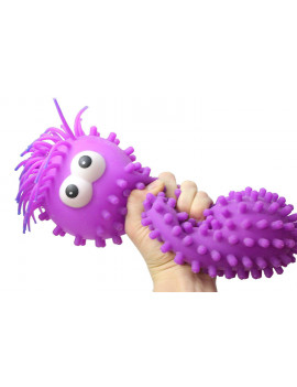 (BLUE) Giant Knobby Puffer Worm - Sensory Fidget and Stress Balls - OT Autism SPD