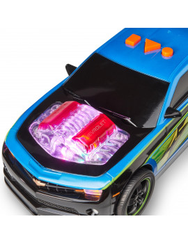 Adventure Force Motor-Riffic Motorized Vehicle, Chevy Camaro, Blue