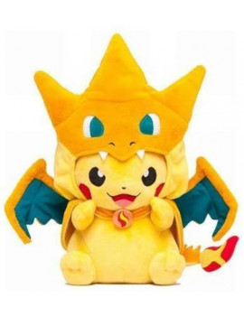 9'' Pika Y Char - Pikachu With Charizard Y Hat Pokemon Plush Doll Soft Stuffed Animal