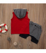 Cute Toddler Kids Baby Boy Hooded Vest Tops+Short Pants 2pcs Outfits Clothes Set Age 0-4 Years