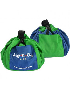 """Lay-n-Go LITE (18"""") : Green, Activity Play Mat, Toy Storage"""