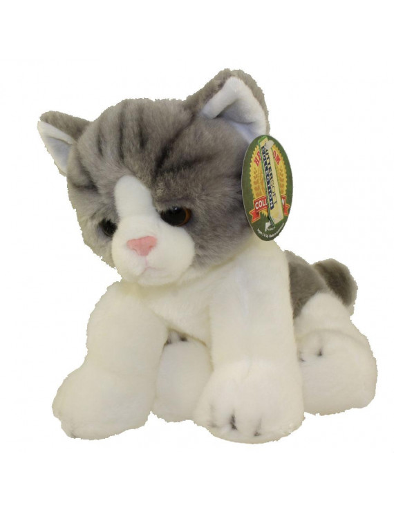 Adventure Planet Plush Heirloom Collection - FLOPPY STRIPED CAT (Silver - 12 inch)