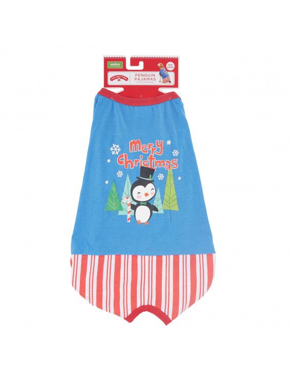 Holiday Time Penguin Pajamas for Dogs, Medium