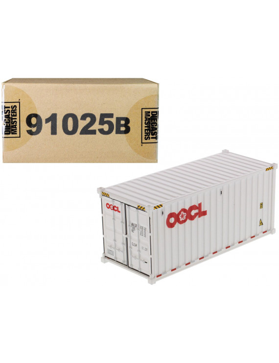 """20' Dry Goods Sea Container """"OOCL"""" White """"Transport Series"""" 1/50 Model by Diecast Masters"""