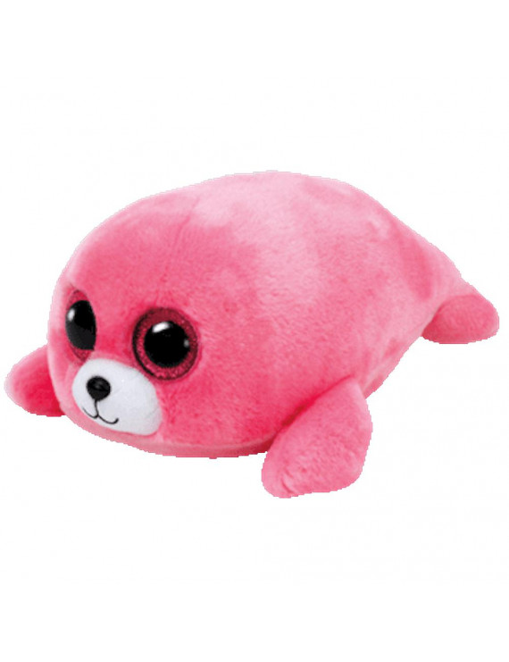 Ty Inc. Beanie Boo Plush Stuffed Animal Pierre the Pink Seal Med.