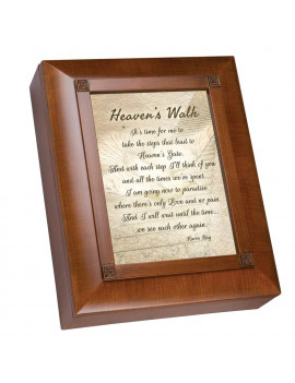 "10"" Brown and Beige Heavens Walk Rectangular Remembrance Box"