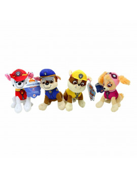 "4PC Set:  8"" Paw Patrol Plush Stuffed Animal Toy Set: Chase, Rubble, Marshall & Skye"