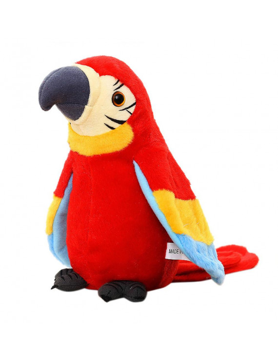 Adorable Speak Talking Record Repeats Waving Wings Cute Parrot Stuffed Plush Toy