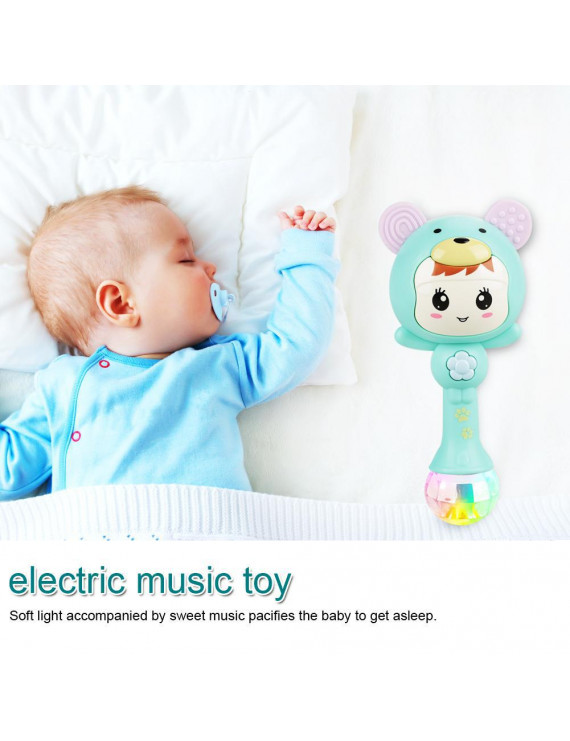 Ccdes Plastic Rattle Toys,Educational Baby Electronic Music Rattle Cute Cartoon Infant Shaking Hand Bells, Music Rattle Toys