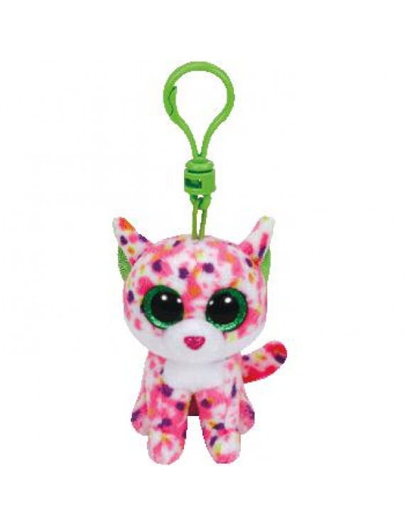 Ty Inc. Beanie Boo Plush Stuffed Animal Sophie the Pink Cat Bag Clip 3""
