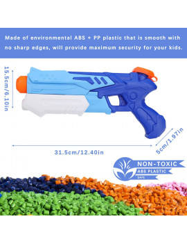 2 Pack Water Guns for Kids Super Soaker Squirt Guns 300ml High Capacity Water Blaster Summer Party Favors Water Game Swimming Pool Beach Sand Toys for 3+ Year Old Boys Girls Adults