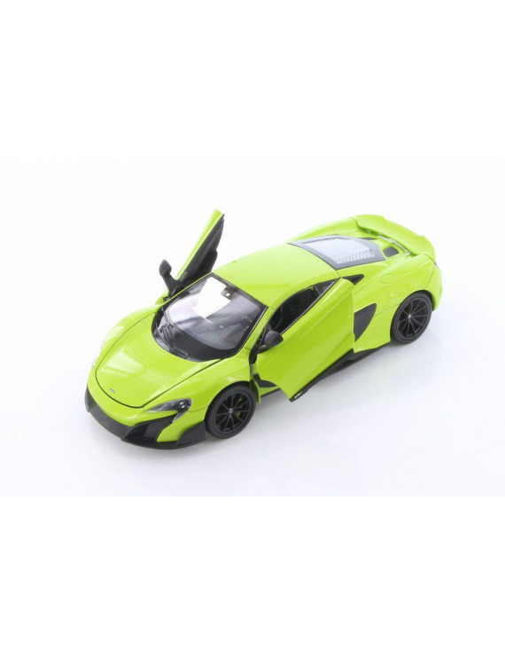 McLaren 675LT Hardtop, Bright Green - Welly 24089/4D - 1/24 scale Diecast Model Toy Car (Brand New but NO BOX)