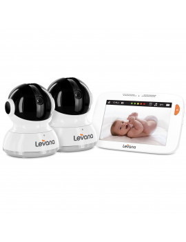 "Like New  Levana Willow 5"" Touchscreen Pan/Tilt/Zoom Video Baby Monitor with 2 Cameras"