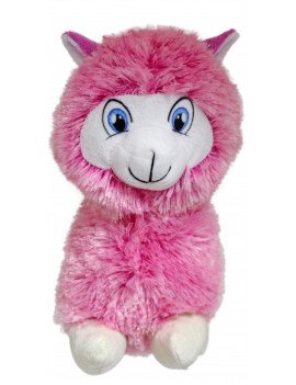 "#PlushPals 16"" Llama Alpaca Stuffed Animal Plush Toy Soft & Fluffy - Pink"