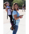 Piggyback Rider SCOUT Toddler Carrier w/ Safety Harness for Hiking, Trails, Camping, Fitness, Parks, Events, Fun, Travel - ORANGE
