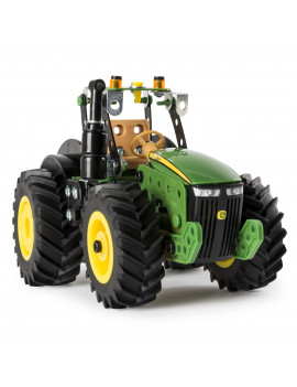 Erector by Meccano John Deere 8R Tractor Building Kit with Working Wheels, STEM Engineering Education Toy For Ages 10 and Up