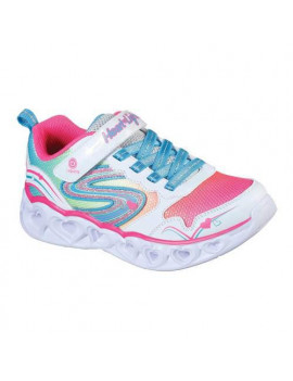 Girls' Skechers S Lights Heart Lights Love Spark Sneaker
