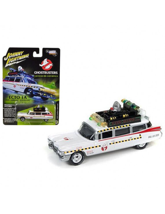 Johnny Lightning JLSS004 1959 Cadillac Ghostbusters Ecto-1A from Ghostbusters 1 Movie 1 by 64 Diecast Model Car