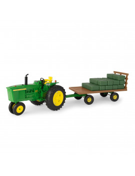 Big Farm Lights & Sounds John Deere 1:16 Scale 4020 Tractor with Hay Wagon and 36 Bales