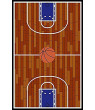 "Basketball Ground Kids Area Rug Size 3'3""x5'"
