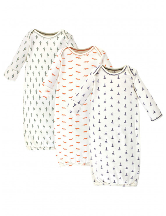 Organic Gowns, 3pk (Baby Boys or Girls Unisex)