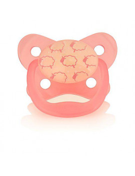 Dr. Brown's Glow in Dark Pacifier, Stage 1/Pink, 0-6 Month by Dr. Brown's