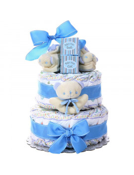 Alder Creek Baby Boy Diaper Cake, 44 pc