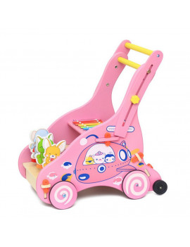 〖Follure〗Wooden Baby Learning Walk er Toddler Toy Stroller Push-pull Toy